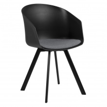 Krzesło do jadalni Moon czarne/szare scandi