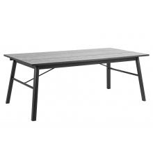 Stół do jadalni Carver 200x100 cm czarny nowoczesny