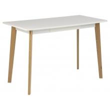 Drewniane biurko Raven 117x58 cm białe/brzoza skandynawskie