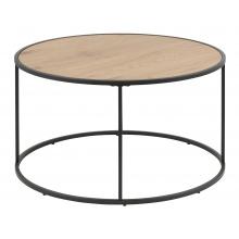 Okrągły stolik kawowy Seaford 80 cm dąb industrialny