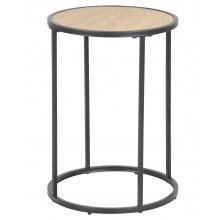 Okrągły stolik kawowy Seaford 40 cm dąb industrialny