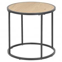Okrągły stolik kawowy Seaford 45 cm dąb industrialny