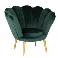 Fotel muszelka do salonu Muse zielony