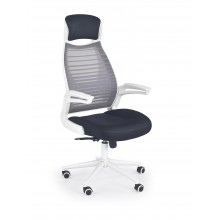 FRANKLIN fotel pracowniczy czarno-popielaty-biały