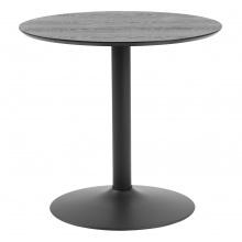 Stolik barowy Ibiza 80 cm jesion/czarny