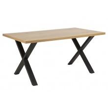 Stół do jadalni Wales 160x90 cm dąb industrialny