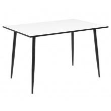 Stół do jadalni 120x80 cm Wilma biały/czarny