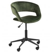 Fotel obrotowy Grace butelkowa zieleń welur