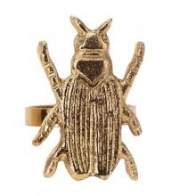 Zapinka do serwetki Insect złota