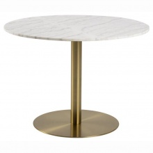 Stół do jadalni Corby 105 cm marmur/złoty