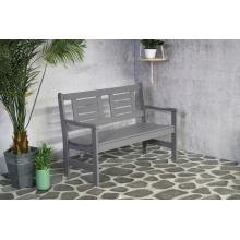 2-osobowa ławka ogrodowa Luppo 120 cm szara drewniana