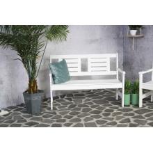 2-osobowa ławka ogrodowa Luppo 120 cm biała drewniana