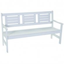 3-osobowa ławka ogrodowa Luppo 155 cm biała drewniana