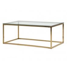 Szklana ława kawowa Lana 120 cm złota glamour