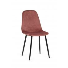 Krzesło do jadalni Ava pudrowy róż aksamit