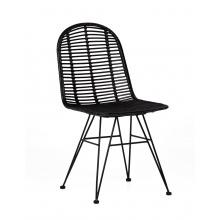 Oryginalne krzesło handmade Tuban II rattan czarne boho