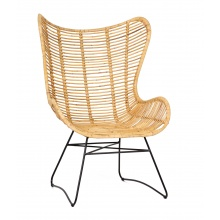 Unikatowy fotel handmade Munduk rattan naturalny boho