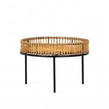 Rattanowy stolik Bima 60 cm rattan naturalny boho