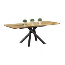 Stół rozkładany do jadalni Derrick 160-200x90 cm dąb industrialny