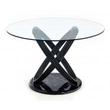Okrągły szklany stół do jadalni Optico 122 cm czarny