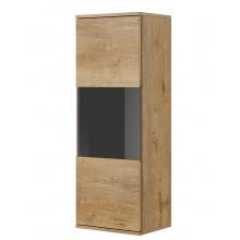 Przeszklona witryna Nest 110 cm dąb lefkas/czarna