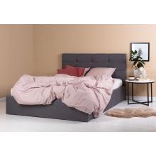 Łóżko podwójne Calabria 160x200 szare z pojemnikiem