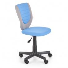 Regulowany fotel biurowy bez podłokietników Toby 78-90 cm błękitny/szary