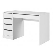 Biurko komputerowe z szufladami Ada białe mat
