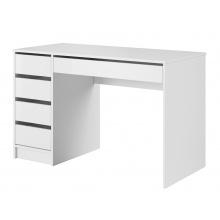 Biurko komputerowe z szufladami Ada białe połysk
