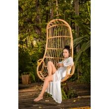 Fotel wiszący handmade Bali rattan naturalny boho