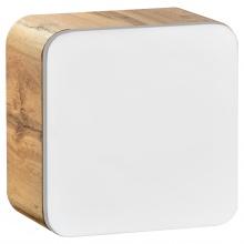 Szafka łazienkowa wisząca Aruba 35x35x22 cm biały bianco/dąb craft złoty