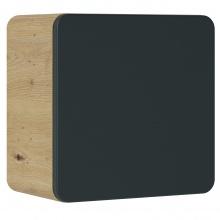 Szafka łazienkowa wisząca Aruba 35x35x22 cm dąb artisan/czarny mat