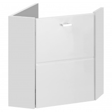 Narożna szafka łazienkowa pod umywalkę Finka biała