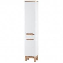 Szafka łazienkowa słupek Bali 187x35x33 cm z szufladą biała