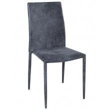 Krzesło do jadalni Milano ciemnoszare mikrofibra
