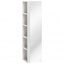 Szafka łazienkowa wysoka z lustrem Twist biała