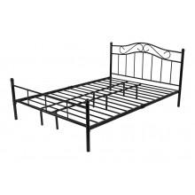 Łóżko metalowe Dust 180x200 czarne