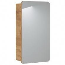 Szafka łazienkowa wisząca z lustrem Aruba 40 cm biały bianco/dąb craft złoty