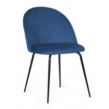 Krzesło do jadalni Malaga granatowe welur