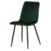 Krzesło z przeszyciami Slay butelkowa zieleń aksamitne