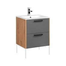Szafka łazienkowa pod umywalkę Madera 60 cm dąb artisan/grafit