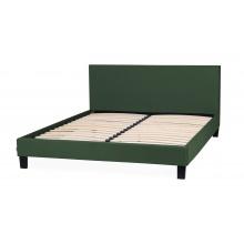 Łóżko z pojemnikiem Matson 160x200 zielone welur