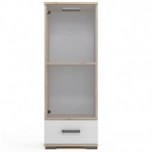 Niska witryna Loppa 125 cm z szufladą
