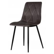 Krzesło welurowe do salonu Hesta szare