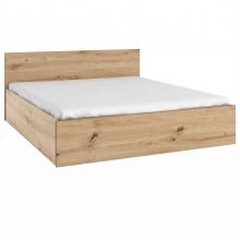 Łóżko do sypialni 160x200 z pojemnikiem i stelażem dąb antisan