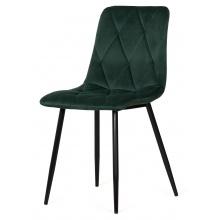 Krzesło welurowe do salonu Hesta butelkowa zieleń