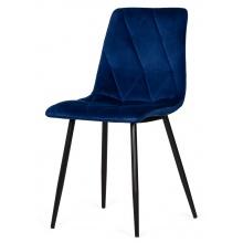 Krzesło welurowe do salonu Hesta granatowe