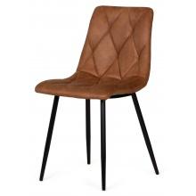 Krzesło do salonu Hesta koniak mikrofibra