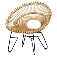 Fotel rattanowy Dakarai rattan naturalny handmade boho