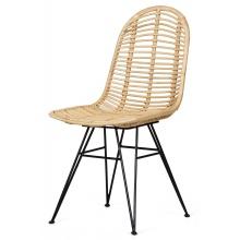 Unikatowe krzesło Tuban II rattan naturalny handmade boho